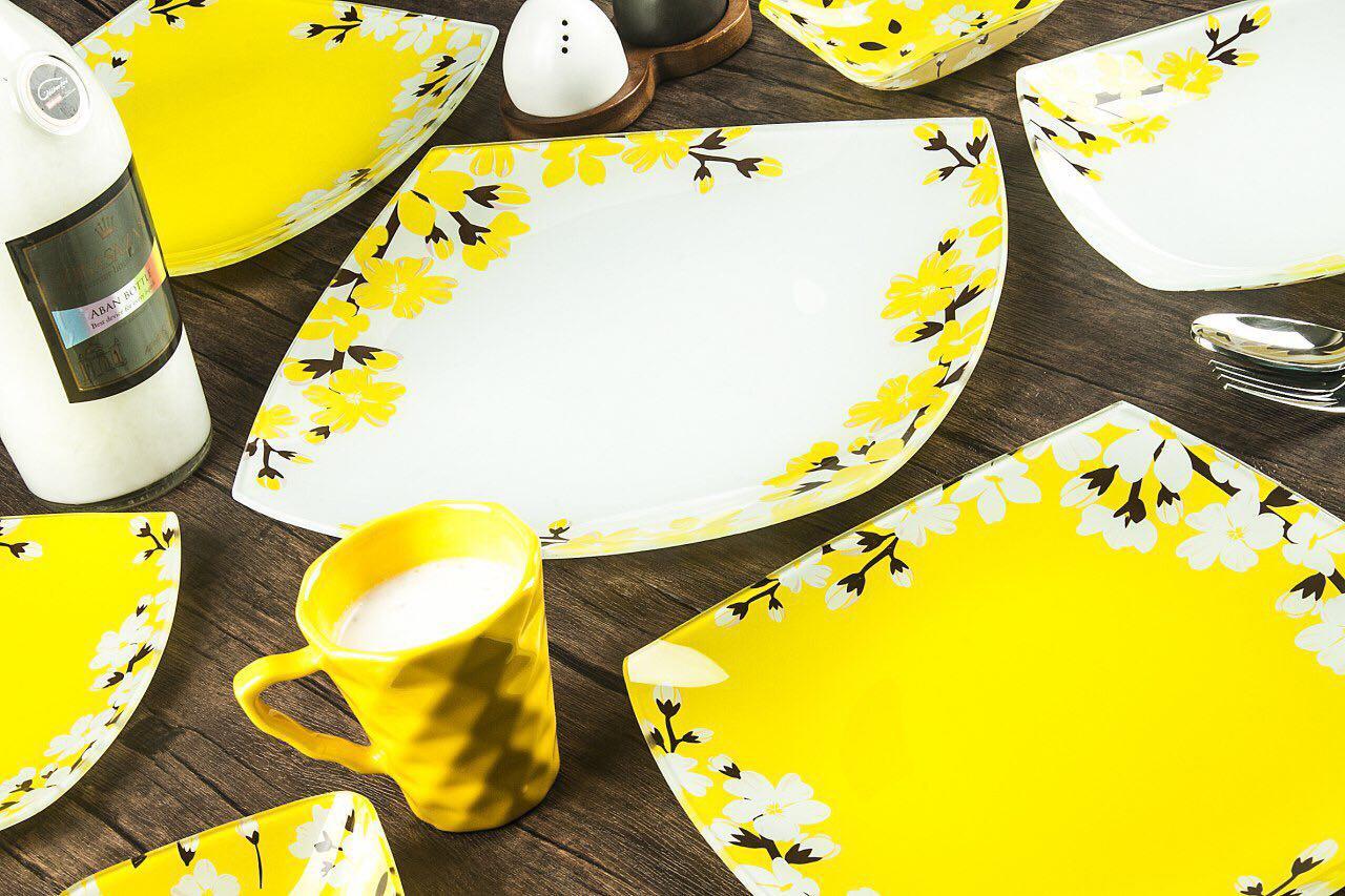سرویس غذاخوری آرکوفام طرح آتنا زرد