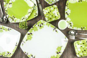 سرویس غذاخوری 25 پارچه آرکوفام طرح آتنا سبز