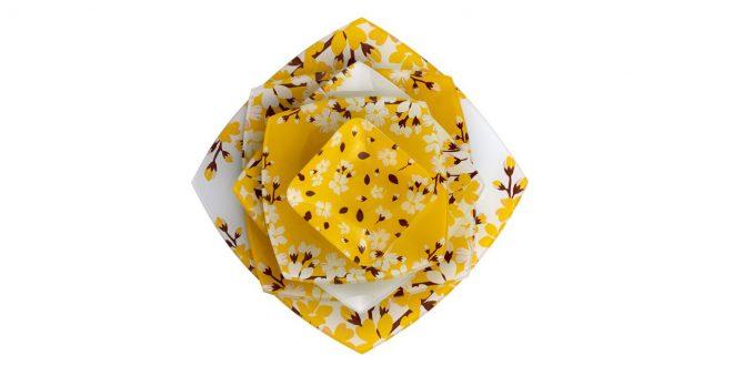 سرویس غذاخوری 25 پارچه آرکوفام طرح آتنا زرد
